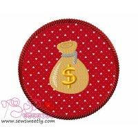 Money Bag Applique Design