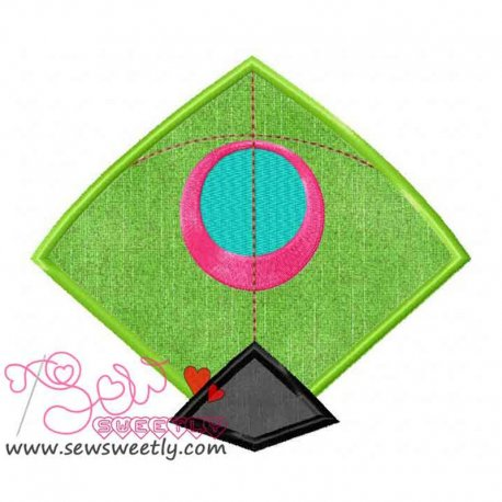 Indian Kite Machine Applique Design For Kids
