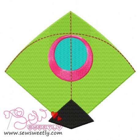 Indian Kite Machine Embroidery Design For Kids