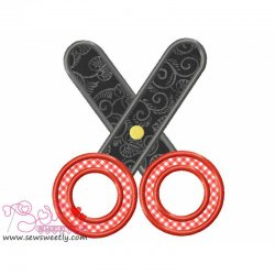 Scissor-3 Applique Design