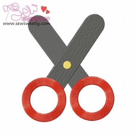 Scissor-3 Machine Embroidery Design For Kids