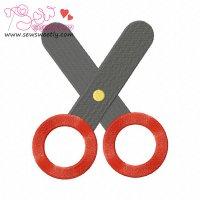 Scissor-3 Embroidery Design