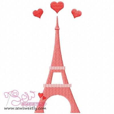 Paris Love Embroidery Design