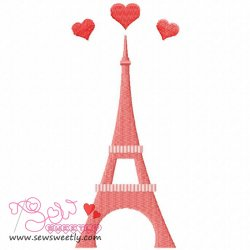 Paris Love Embroidery Design