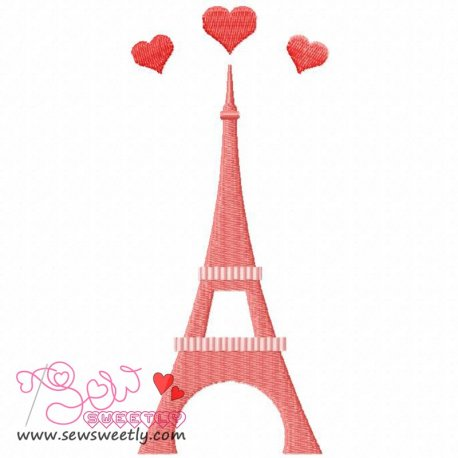 Paris Love Machine Embroidery Design For Kids