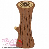 Forest LOG Embroidery Design