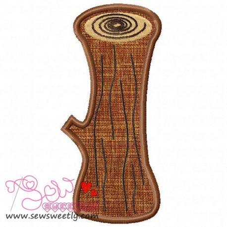 Forest LOG Applique Design Pattern- Category- Other Designs- 1