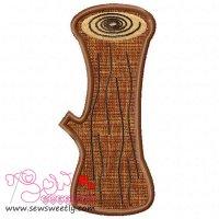 Forest LOG Applique Design