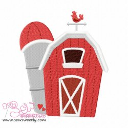 Farm House Embroidery Design