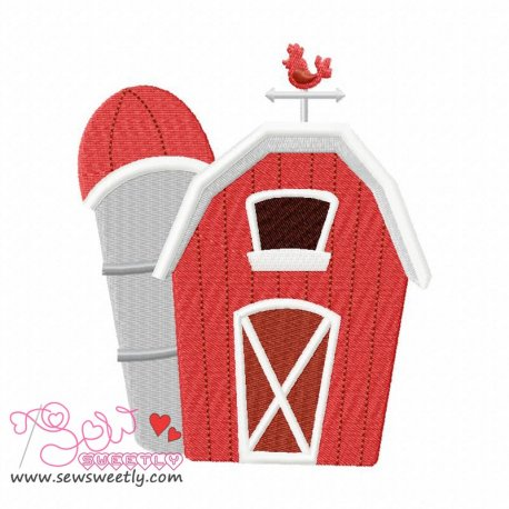 Farm House Machine Embroidery Design For Kids