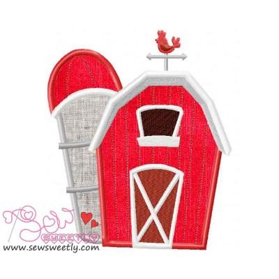 Farm House Applique Design