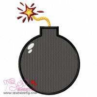 Exploding Bomb Embroidery Design