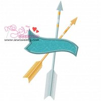 Ethnic Arrows-3 Applique Design