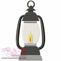 Lantern Embroidery Design