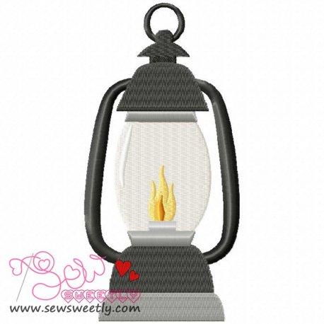 Lantern Machine Embroidery Design For Kids