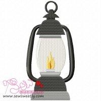 Lantern Embroidery Design
