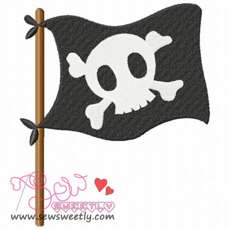 Pirate Flag Machine Embroidery Design For Kids