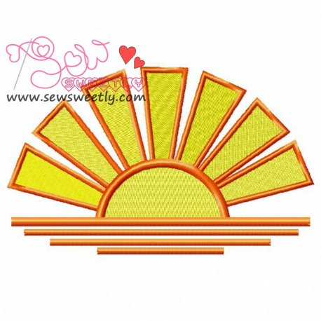 Sunset-1 Machine Embroidery Design For Kids