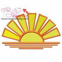 Sunset-1 Embroidery Design