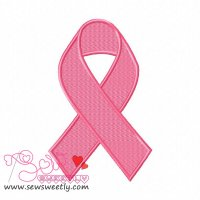 Remembrance Ribbon Embroidery Design