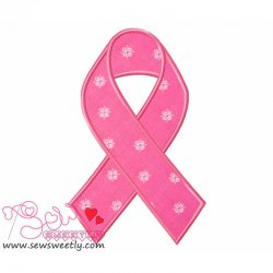Remembrance Ribbon Applique Design