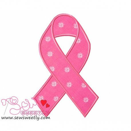 Remembrance Ribbon Machine Applique Design For Kids