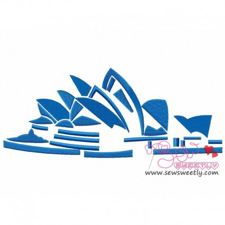Opera House Machine Embroidery Design For Kids