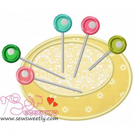 Pin Cushion-2 Applique Design Pattern- Category- Other Designs- 1