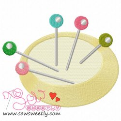 Pin Cushion-2 Embroidery Design