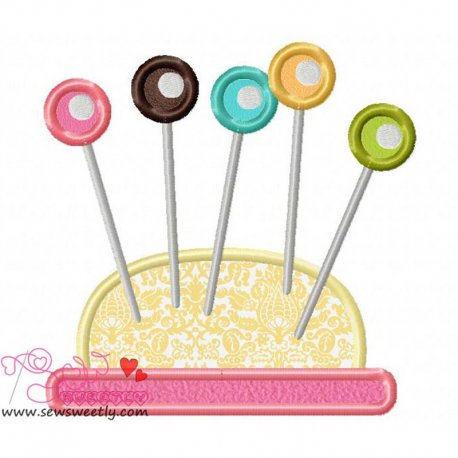 Pin Cushion-1 Applique Design Pattern- Category- Other Designs- 1