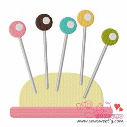 Pin Cushion-1 Embroidery Design