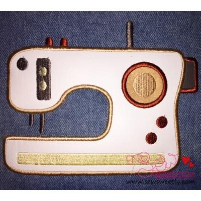 Modern Sewing Machine Applique Design