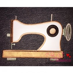 Classic Sewing Machine Applique Design