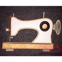 Classic Sewing Machine Applique Design