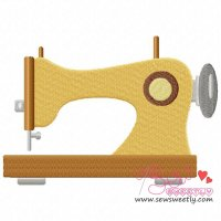 Classic Sewing Machine Embroidery Design