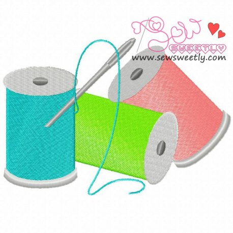 Colorful Threads Machine Embroidery Design For Kids
