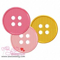 Buttons-2 Embroidery Design