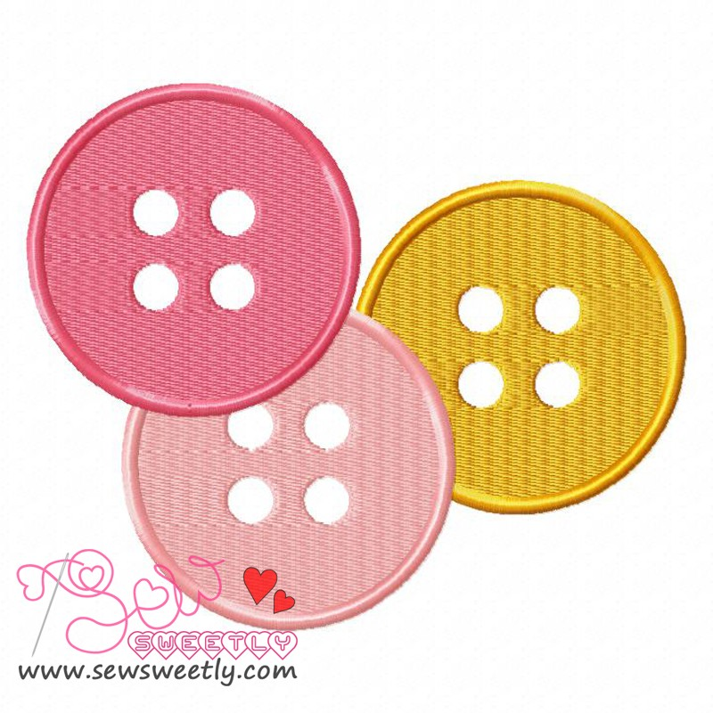 Buttons 2 Embroidery Design