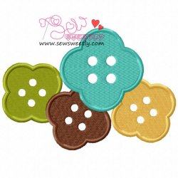 Buttons-1 Machine Embroidery Design For Kids