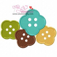 Buttons-1 Embroidery Design