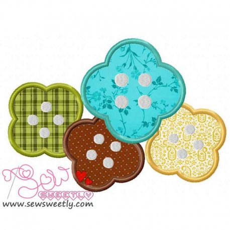 Buttons-1 Applique Design Pattern- Category- Other Designs- 1