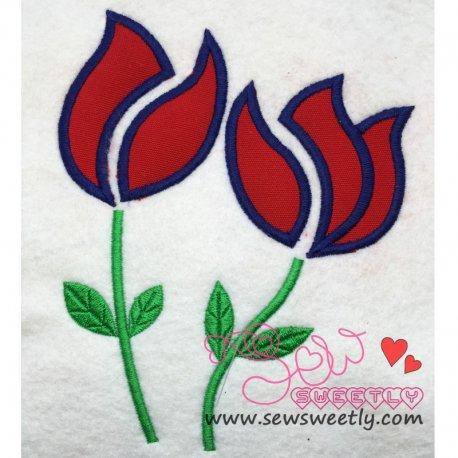 Roses Applique Design Pattern- Category- Floral Designs- 1