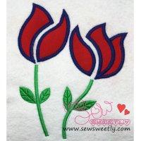 Roses Applique Design