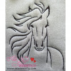 Horse-1 Embroidery Design