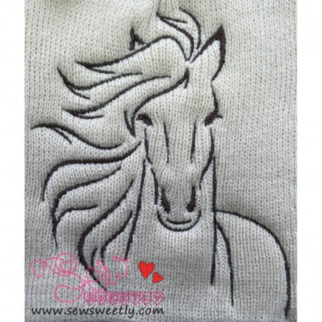 Horse-1 Embroidery Design For Animal Lovers