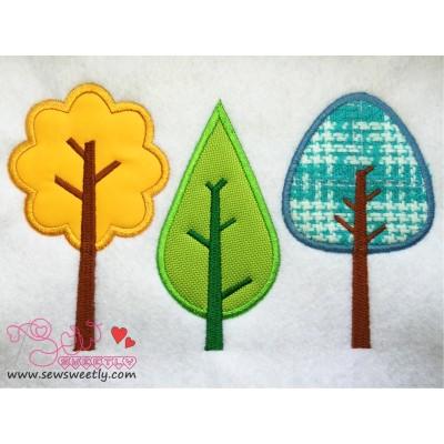 Free Summer Trees Applique Design
