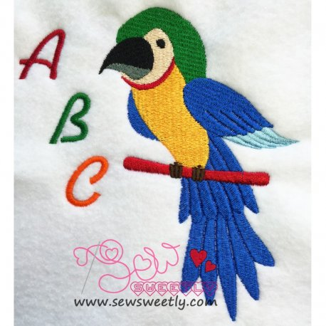 Talking Parrot-1 Embroidery Design Pattern- Category- Birds Designs- 1