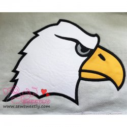 Eagle Face Applique Design