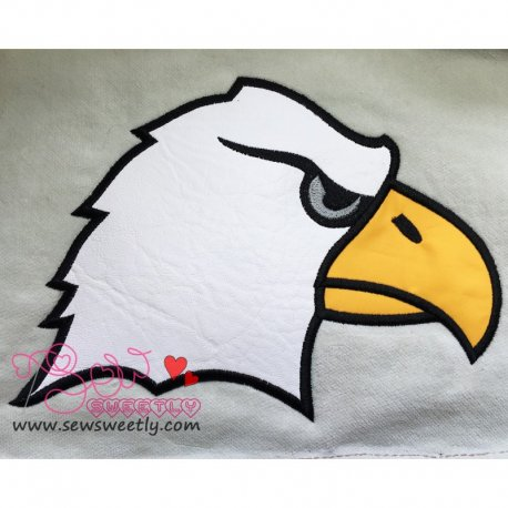 Eagle Face Machine Applique Design For Kids