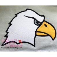 Eagle Face Applique Design